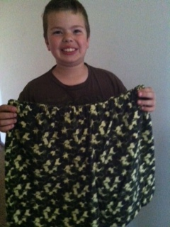 Teigen and the cotton shorts he made for this year