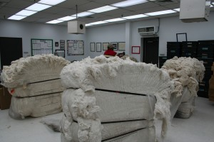 These bales have been unwrapped & are being prepped for use!
