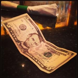 five dollar tip