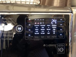 LG washer control panel