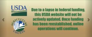 USDA websites not updated